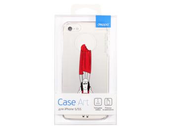 Чехол (клип-кейс) DEPPA Art case Будни Петра Парашют, для Apple iPhone 5/5s/SE, прозрачный [100658]