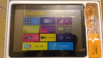 Планшет DIGMA CITI 19044G, 1GB, 16GB, 3G, 4G, Android 5.1 черный [cp1064ml]