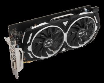 Видеокарта MSI nVidia GeForce GTX 1060 , GTX 1060ARMOR 6G OC, 6Гб, GDDR5, OC, Ret