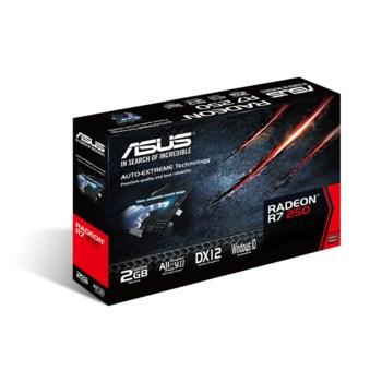 Видеокарта ASUS AMD Radeon R7250 , R7250-2GD5, 2Гб, GDDR5, Ret