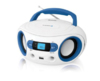Аудиомагнитола BBK BS15BT,  белый и голубой вид 2