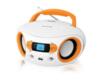 Аудиомагнитола BBK BS15BT,  белый и оранжевый вид 2