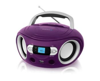 Аудиомагнитола BBK BS15BT, фиолетовый
