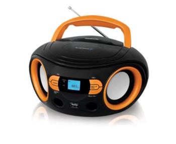 Аудиомагнитола BBK BS15BT, черный и оранжевый