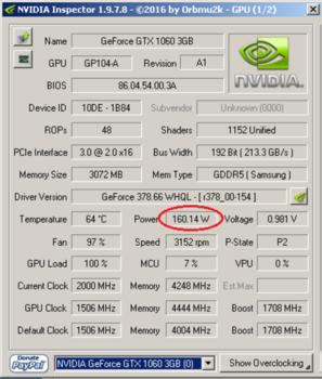 Видеокарта PALIT nVidia GeForce GTX 1060 , PA-GTX1060DUAL 3G, 3Гб, GDDR5, Ret [ne51060015f9-1061d]