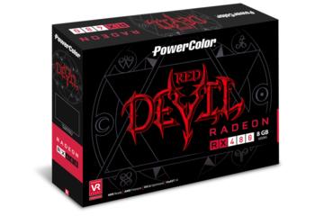 Видеокарта POWERCOLOR AMD Radeon RX480 , AXRX 4808GBD5-3DH/OC, 8Гб, GDDR5, OC, Ret
