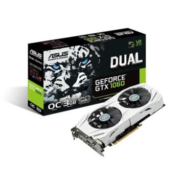 Видеокарта ASUS nVidia GeForce GTX 1060 , DUAL-GTX1060-O3G, 3Гб, GDDR5, Ret