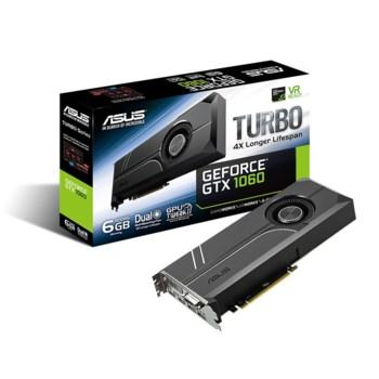 Видеокарта ASUS nVidia GeForce GTX 1060 , TURBO-GTX1060-6G, 6Гб, GDDR5, Ret