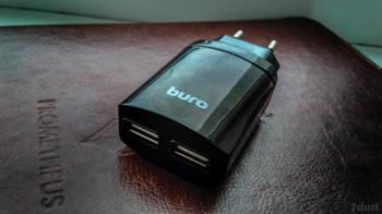 Сетевое зарядное устройство BURO MC001Smart, 2xUSB, 3.4A, черный
