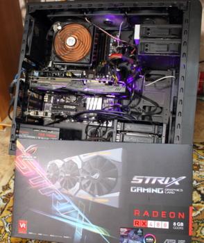 Видеокарта ASUS AMD Radeon RX480 , STRIX-RX480-8G-GAMING, 8Гб, GDDR5, OC, Ret