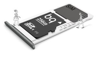 Смартфон BQAquaris 16Gb, ULite, темно-серый/черный