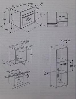 Духовой шкаф INDESIT IFW 6230IX, серебристый