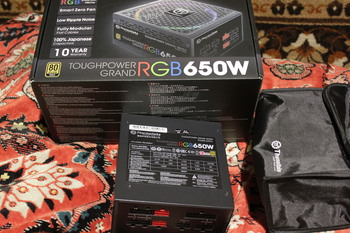 Блок питания THERMALTAKE Toughpower Grand RGB, 650Вт, 140мм, черный, retail [ps-tpg-0650fpcgeu-r]