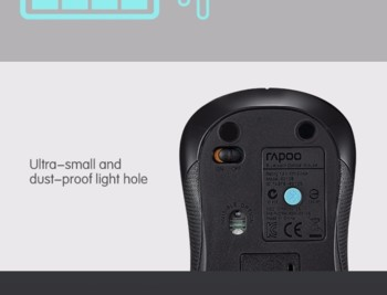 Мышь RAPOO 6010B, оптическая, беспроводная, черный