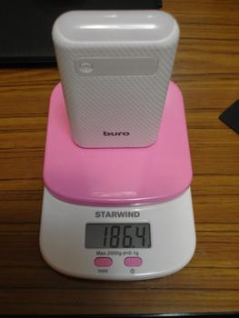 Внешний аккумулятор (Power Bank) BURO RC-7500A-W, 7500мAч, белый