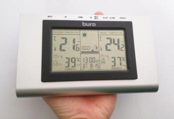 Погодная станция BURO H127G, серебристый