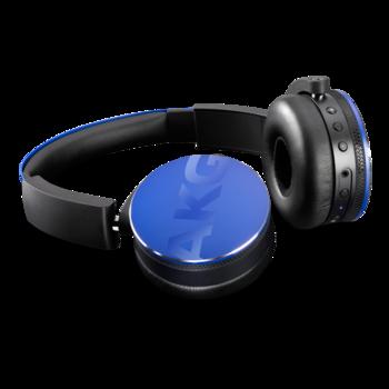 Наушники с микрофоном AKG Y50BTBLU, 2.5 мм/Bluetooth, накладные, синий
