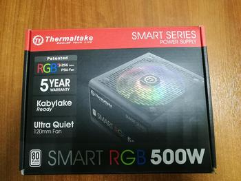 Блок питания THERMALTAKE Smart RGB 500, 500Вт, 120мм, черный, retail [ps-spr-0500nhsaw]
