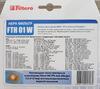 НЕРА-фильтр FILTERO FTH 01 W ELX,  1 шт., для пылесосов AEG, ARNICA, BORK, ELECTROLUX, PHILIPS вид 3