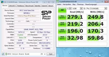 SSD накопитель SILICON POWER Slim S70SP240GBSS3S70S25 240Гб, 2.5, SATA III