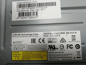 Оптический привод DVD-RW LITE-ON IHAS124-04/-14, внутренний, SATA, черный, OEM