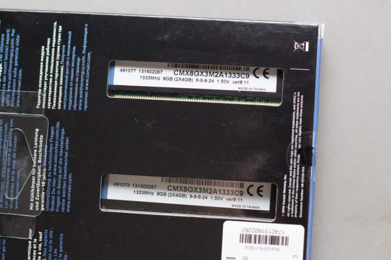 Модуль памяти Corsair PC3-12800 DIMM DDR3 1600MHz - 8Gb KIT (2x4Gb) CMZ8GX3M2A1600C9