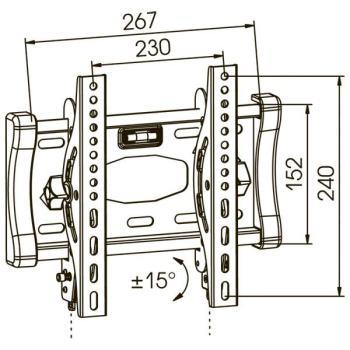 Кронштейн для телевизора Kromax STAR-6 серый 17-37 макс.40кг настенный наклон