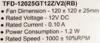 Вентилятор TITAN TFD-12025GT12Z,  120мм, Ret вид 4