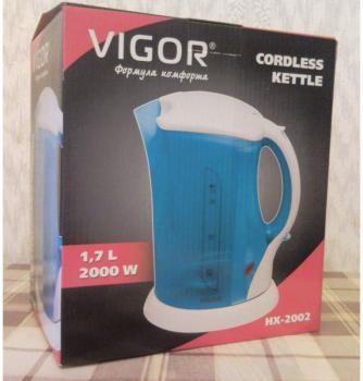 Чайник электрический VIGOR HX-2002, 2000Вт, голубой