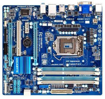 Материнская плата GIGABYTE GA-Z77M-D3H, LGA 1155, Intel Z77, mATX, Ret