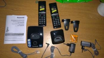 Радиотелефон PANASONIC KX-TG8052RUB, черный