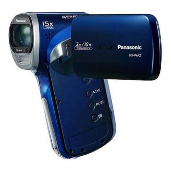 Видеокамера PANASONIC HX-WA2, синий, Flash [hx-wa2ee-a]