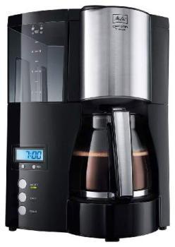 Кофеварка MELITTA Optima Glass Timer, капельная, черный