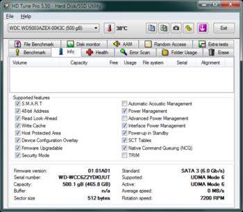 Жесткий диск WDCaviar Black WD5003AZEX, 500Гб, HDD, SATA III, 3.5