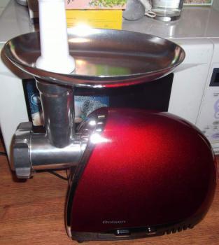Мясорубка ROLSEN MG-1514MR, красный