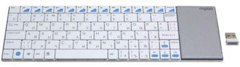Клавиатура RAPOO E2700Smart TV, USB, Радиоканал, белый + серебристый [11313]