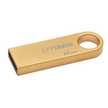 Флешка USB KINGSTON DataTraveler GE98Гб, USB2.0, золотистый [dtge9/8gb]