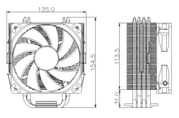 Устройство охлаждения(кулер) DEEPCOOL GAMMAXX 400, 120мм, Ret