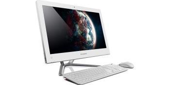 Моноблок LENOVO C345, 20, AMD E2 1800, 2Гб, 500Гб, AMD Radeon HD 7340, DVD-RW, Windows 8, белый [57312026]