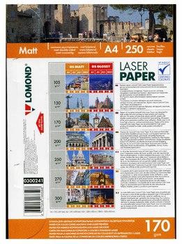 Бумага Lomond 0300241A4/170г/м<sup>2</sup>/250л./белый матовое/матовое для лазерной печати