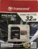 Карта памяти microSDHC UHS-I TRANSCEND 32 ГБ, 60 МБ/с, Class 10, TS32GUSDU1,  1 шт., переходник SD вид 8