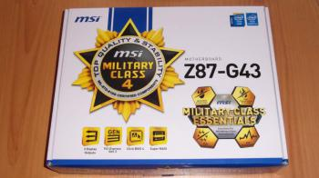 Материнская плата MSI Z87-G43, LGA 1150, Intel Z87, ATX, Ret