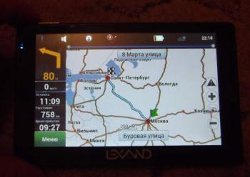 Навигатор LEXAND STR-5350HD+, 5, авто, 4Гб, Navitel 5, черный