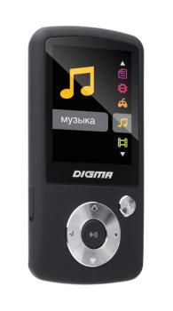 MP3 плеер DIGMA B2flash 8Гб черный [b2-8-bk]