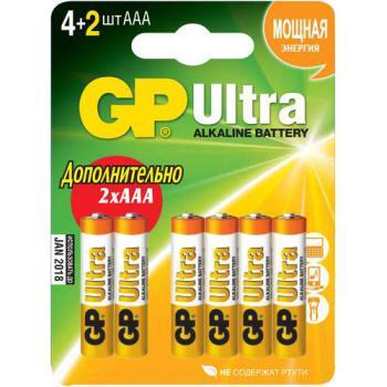 AAA Батарейка GPUltra Plus 24AUPTB-2CR6, 6 шт.