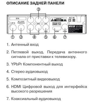 Ресивер DVB-T2MYSTERY MMP-71DT2, черный