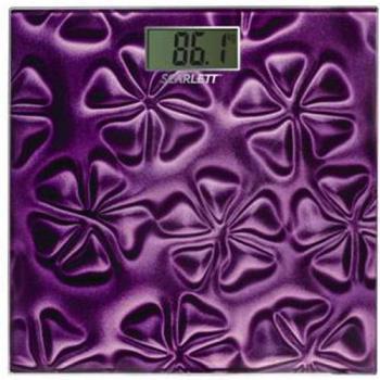 Напольные весы SCARLETT SC2218, до 180кг, цвет: фиолетовый