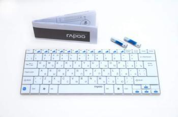 Клавиатура RAPOO E6100, беспроводная, белый [11900]
