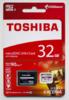 Карта памяти microSDHC UHS-I U3 TOSHIBA M302 32 ГБ, 90 МБ/с, Class 10, THN-M302R0320EA,  1 шт., переходник SD вид 6