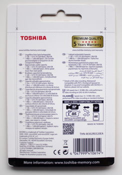Карта памяти microSDHC UHS-I U3TOSHIBA M30232 ГБ, 90 МБ/с, Class 10, THN-M302R0320EA, 1 шт., переходник SD